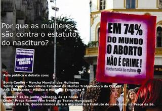 Por que as mulheres são contra o Estatuto do nascituro?