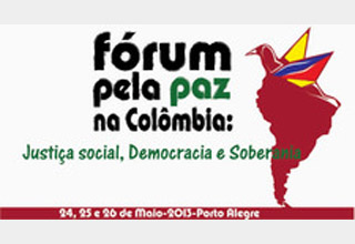 Fórum da Colômbia, de 24 a 26 de maio, em Porto Alegre (RS)