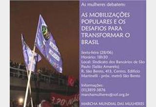 As mulheres debatem: As mobilizações populares e os desafios para transformar o Brasil