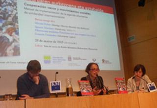 Miriam Nobre, da SOF, participa de evento sobre cooperação internacional no País Basco