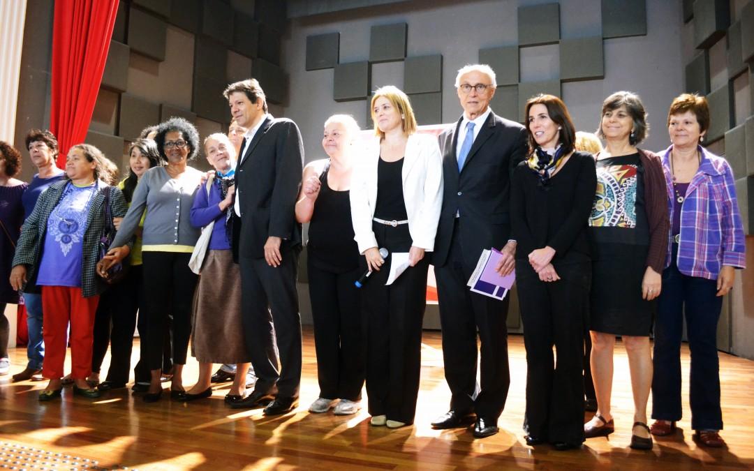 Aula Magna com Haddad sobre Economia Solidária encerra curso para mulheres sobre trabalho, renda e feminismo