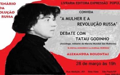 """Tatau Godinho debaterá """"A mulher e a Revolução Russa"""" em relançamento de obra de Kollontai"""