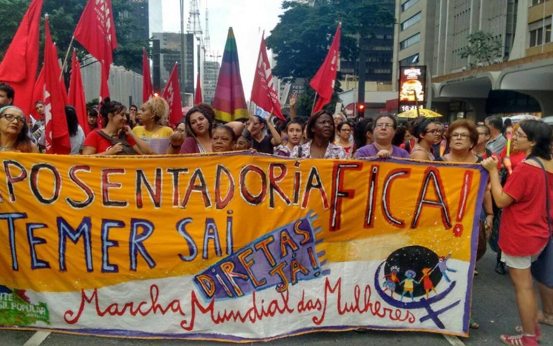 24/4: Mulheres de todo o Brasil estarão nas ruas denunciando a Reforma da Previdência
