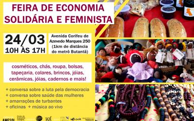 Butantã recebe nova feira de economia solidária e feminista neste sábado (24)