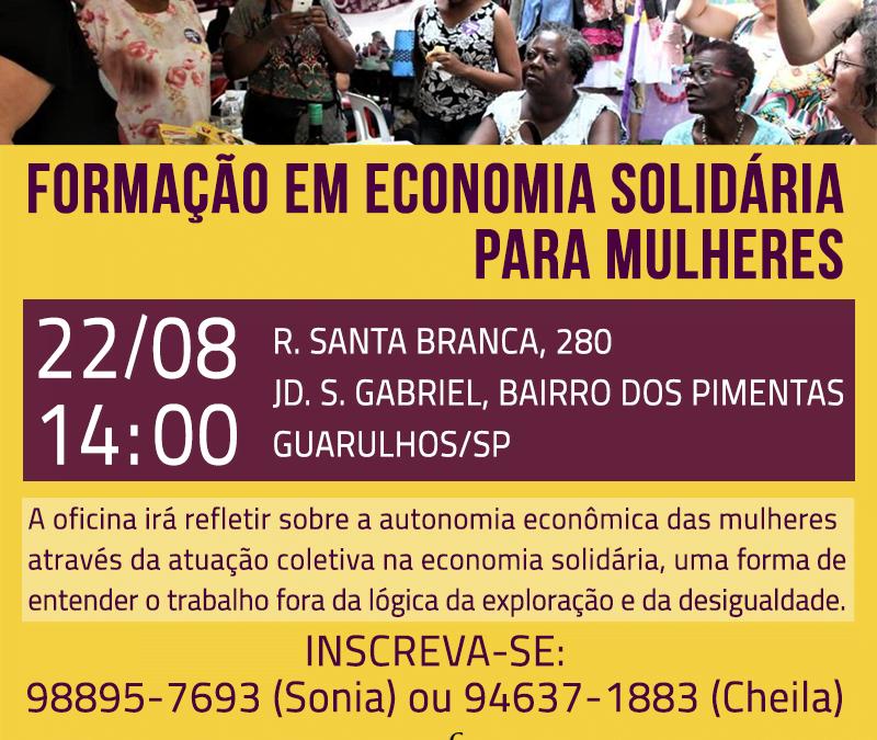 Guarulhos terá tarde de oficina sobre economia solidária para mulheres