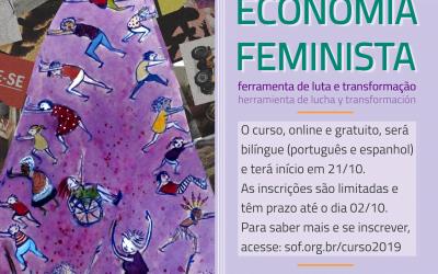 Inscrições abertas para curso virtual sobre economia feminista