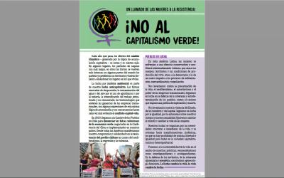 Folheto | Un llamado de las mujeres a la resistencia: ¡no al capitalismo verde!